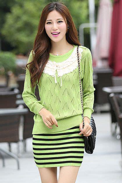 Michael Sweater Green Baju Korea Baju Murah Pakaian Pria sweater wanita import korea sweater jacket