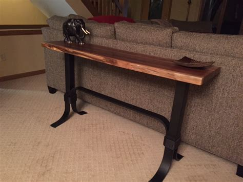 Walnut Live Edge Sofa Table Ohio Hardwood Furniture Live Edge Sofa Table