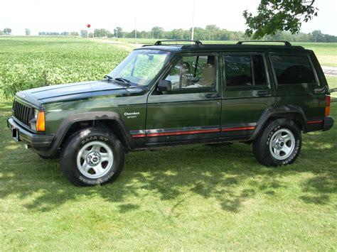 jeep cherokee sport green x96xjsportx 1996 jeep cherokeesport 4d specs photos