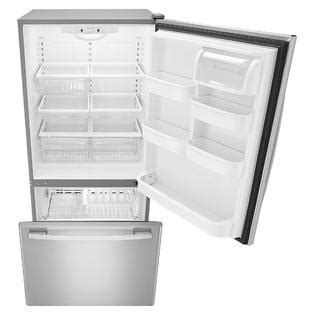 Pull Out Refrigerator Drawers by Amana Abb2224brm 22 Cu Ft Bottom Freezer Refrigerator W