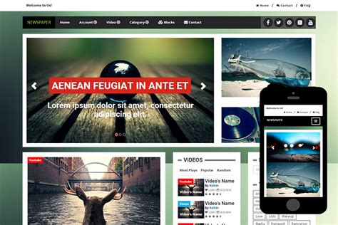 bootstrap templates for news free download newspaper free bootstrap themes 365bootstrap