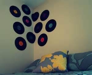 schallplatten dekoration vinyl record wall decor la and friends
