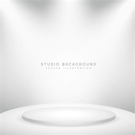 white background white studio background with podium free vector