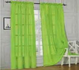 Sheer Green Curtains Lime Green Sheer Curtains Ebay