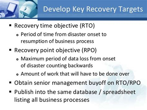 recovery point objective template image collections