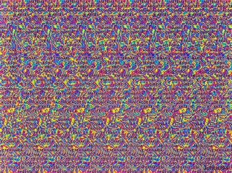 imagenes en 3d ilusiones opticas stereogram julio m otuyama