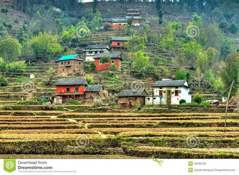 Home Design Free Plans nepalese hill village royalty free stock photos image