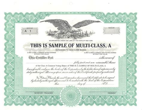 corporate stock certificate template free blank stock certificate template selimtd