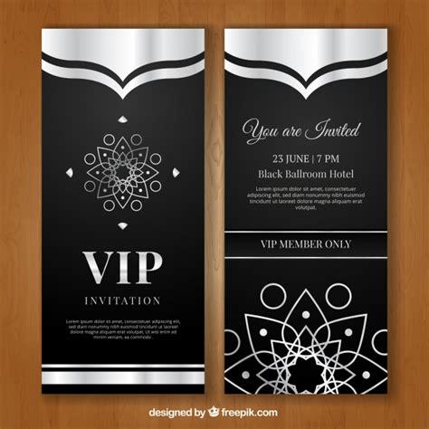 imagenes tarjetas vip invitaci 243 n vip lujosa descargar vectores gratis