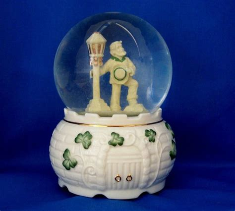 san francisco music box co st patrick s shamrocks snow