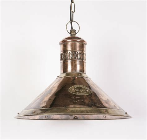 Lighting Pendant Deck Solid Copper And Brass 1 Light Pendant From Richard Hathaway Lighting