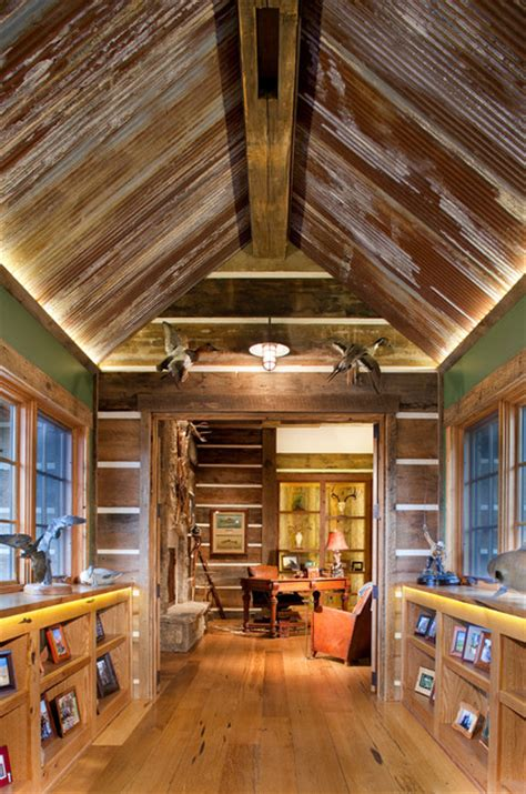Design Ideas For Galvanized Ceiling Fan Mine Style Rustic Mountain Lodge Rustic Other Metro By Copper Creek Homes Llc