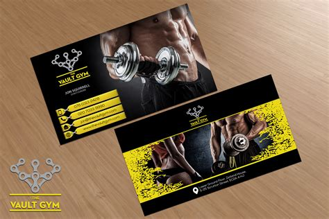fitness business card template business card template card design ideas