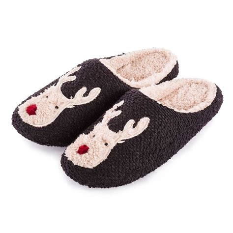 slippers images totes mens reindeer novelty mule slippers totes isotoner