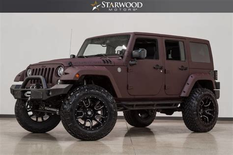 jeep wrangler 2017 maroon starwood motors 2017 jeep wrangler unlimited rubicon