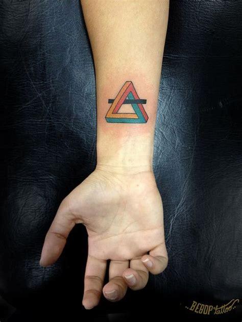 sick wrist tattoos infinity triangle triangles are the mathmatical
