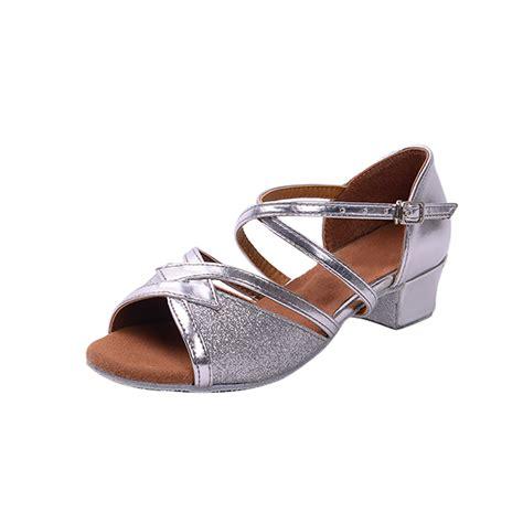 comfortable salsa shoes 2016 silver latin ballroom dance shoes low heel