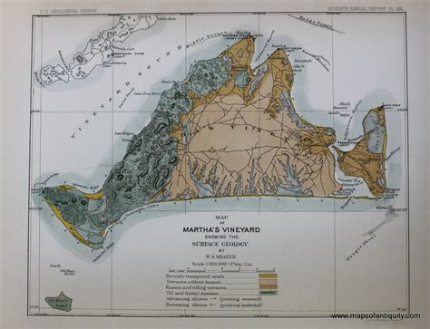 geology of cape cod map of martha s vineyard showing the surface geology by