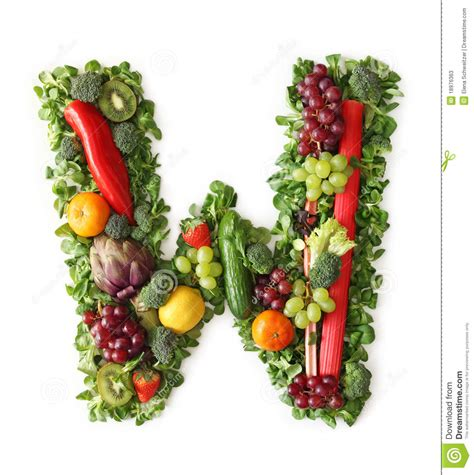 vegetables 10 letters fruit and vegetable alphabet stock photos image 18976363