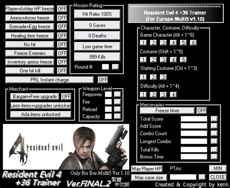 resident evil 6 cheats trainer pc reuridbamo s diary resident evil 4 pc cheats download