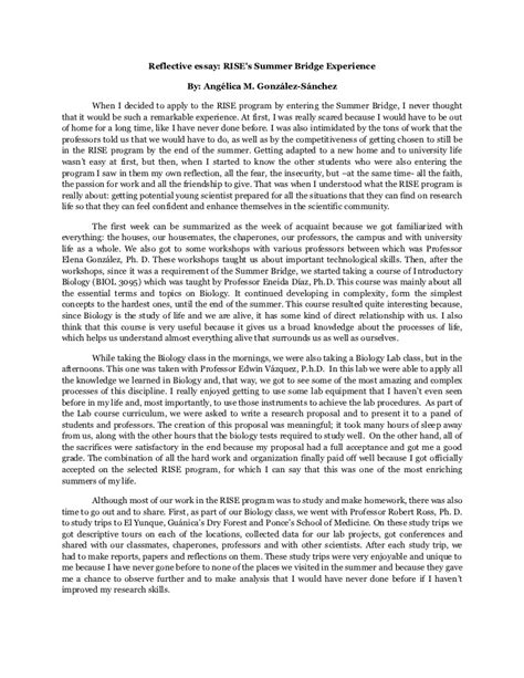 reflective essay examples on writing cover letter reflective essay