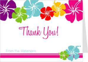 thank you card hawaiian thank you cards luau thank you