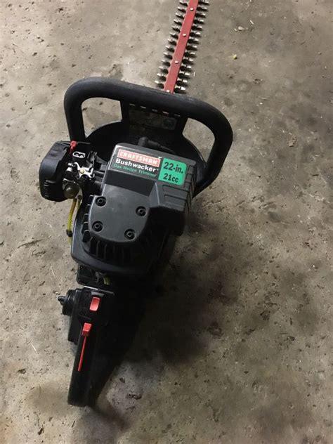craftsman  cc bushwacker gas hedge trimmer cutter