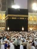 Sajadah Tas Kabah waktu dhuha di masjidil haram desty cholidy rozi