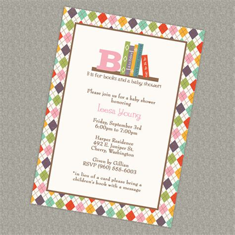 In Lieu Of A Card Bring A Book Baby Shower by Book Baby Shower Invitation In Lieu Of A Card Bring A