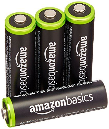 Amazonbasics Rechargeable by Amazonbasics Aa Rechargeable Batteries 4 Pack Pre Charged Packaging May Vary B00cwnmr5y