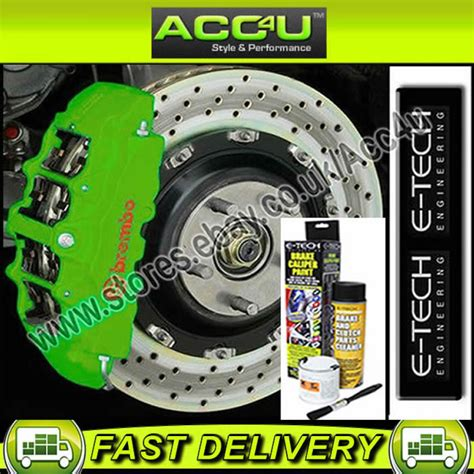 Cover Caliper Bikers N250 e tech green car bike engine bay block valve cover brake caliper paint kit set ebay