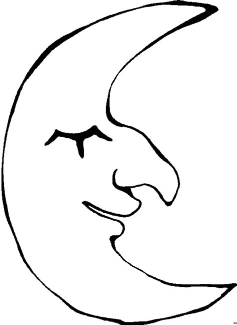 Moon Coloring Pages Coloringpages1001 Com Coloring Pages Of The Moon