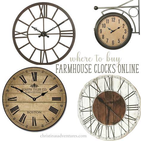 buy clock where to buy farmhouse wall clocks christinas adventures