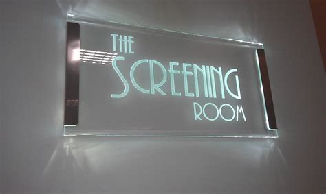 room in use lighted sign edge lit glass signs and led displays