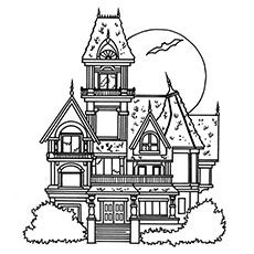 haunted houses free coloring pages on art coloring pages