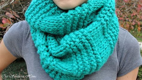 easy loom knitted scarf easy knitted infinity scarf our southern home