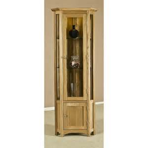 Corner Display Cabinet Prices Vincent Solid Oak Furniture Glazed Corner Display Cabinet