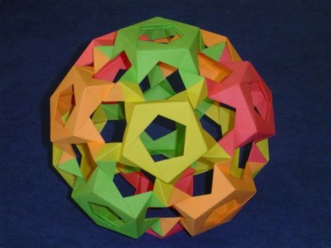 origami buckyball 17 best images about origami modular on 3d