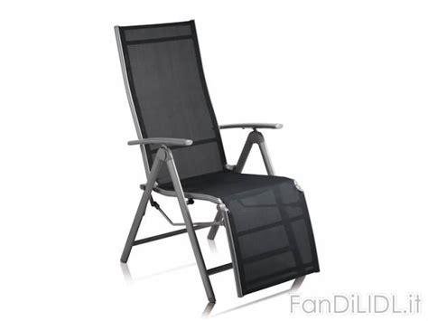 sedie sdraio offerte sedia sdraio in giardino fan di lidl