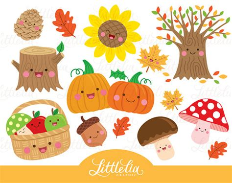 clipart autunno autumn kawaii autumn clipart 16048