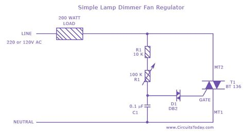 capacitor based fan regulator circuit simple l dimmer fan regulator circuit diagram world