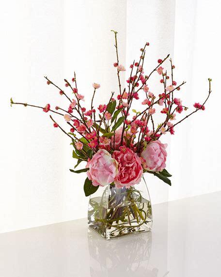 cherry blossom arrangements ndi peony cherry blossom arrangement