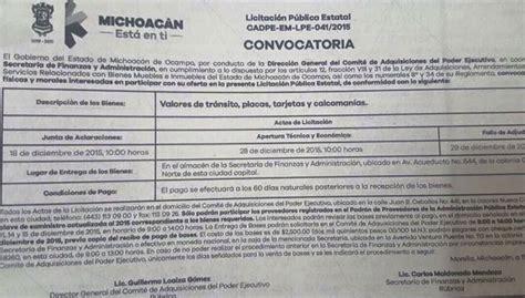requisitos para para placas de michoacan requisitos para reemplacamiento en michoacan gobierno de