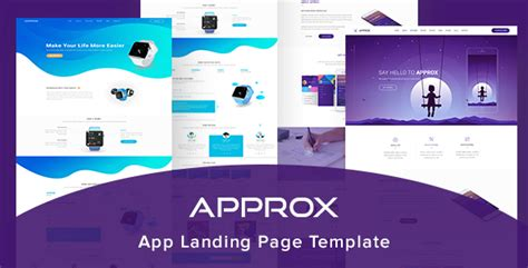 approx app landing page template by dualtheme themeforest