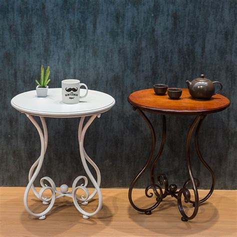 small side tables for bedroom continental iron coffee table small round table living