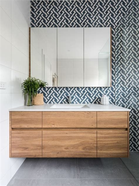 Bathroom Feature Tile Ideas 25 Best Ideas About Timber Vanity On Modern Bathrooms Bath Room And Grey Modern