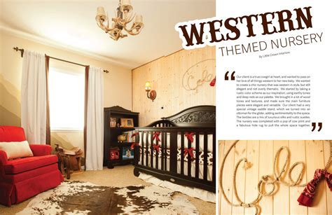 Western Nursery Decor Bratt Decor Western Themed Nursery In Tattle Magazine