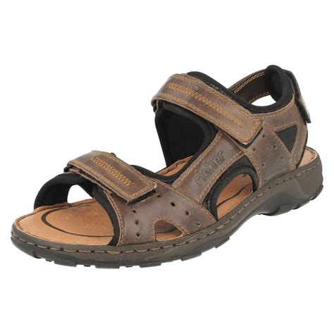 mens summer sandals mens rieker antistress summer sandals 26061 ebay