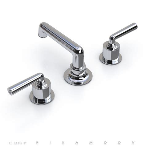 Waterworks Henry Faucet by Waterworks Henry Faucet With Lever Handles 3d Model Max