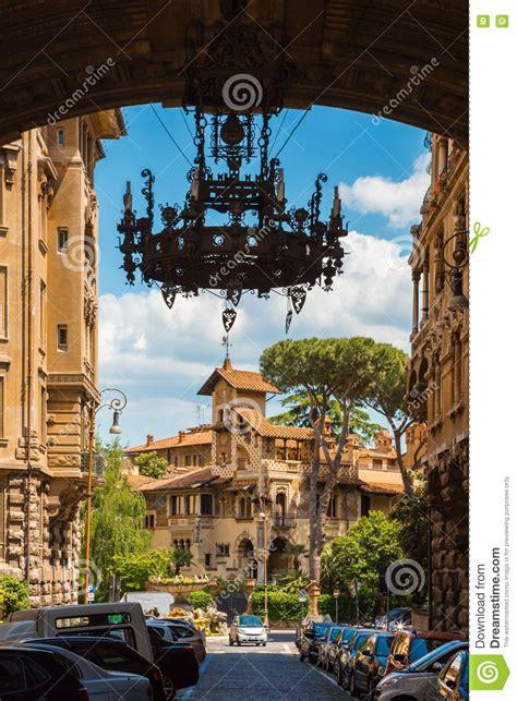 quartiere coppedè quartiere coppede rome arch stock image image of
